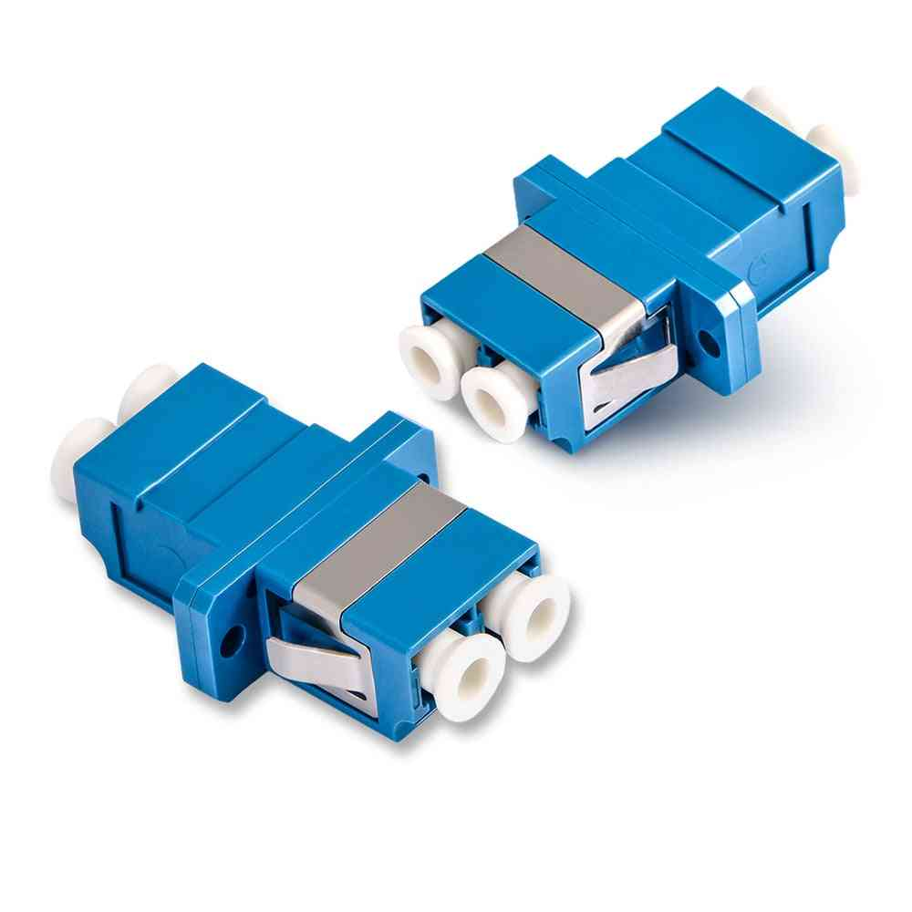 Duplex Single-mode, Fiber Optic Adapter, Lc Coupler, Upc Flange, Connector