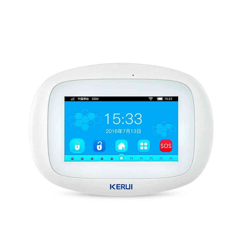 Touch Display Smart Voice Prompt Home Security Wireless Buglar Alarm System