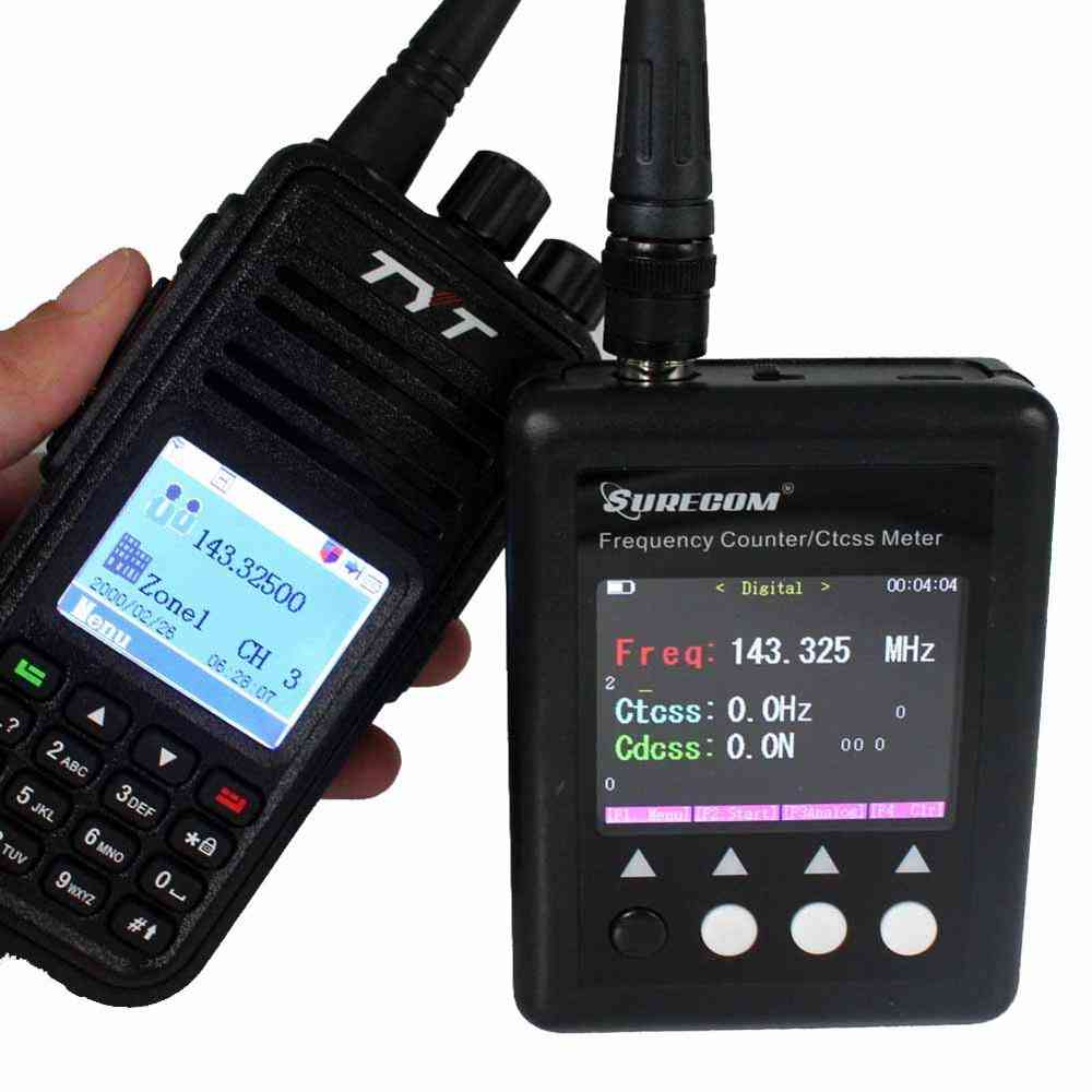 Portable Plus Frequency Meter/counter With Uhf Antenna And Usb Charger Cable
