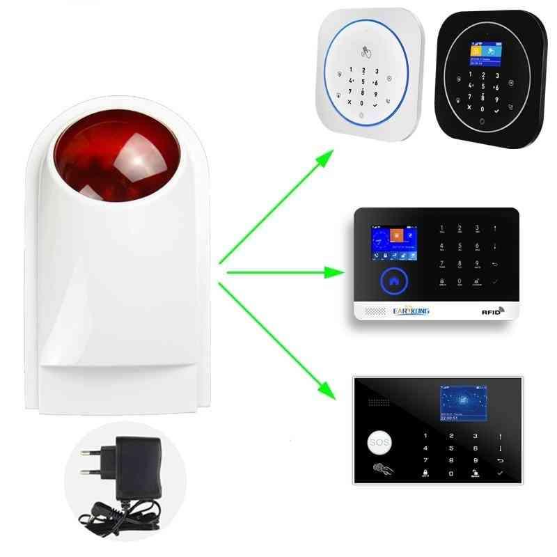Wireless Strobe Siren, Light Alarm And Wifi Gsm System For- G4 / W123 / G50 / Pg103 / W2b