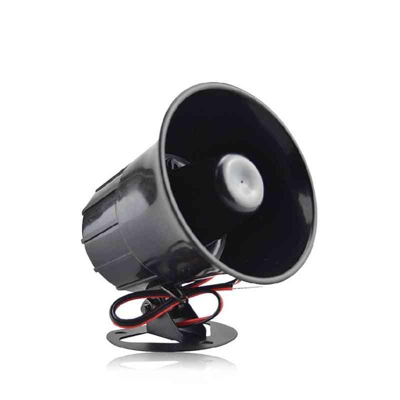Outdoor Alarm Siren, Wire Loud Horn, Exterior Speaker For Alarm System (black)