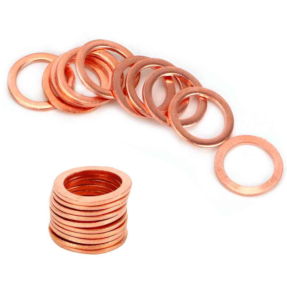 Copper Crush Washers For Vehicle Fasteners, Sump Plug, Oil Seal Tools