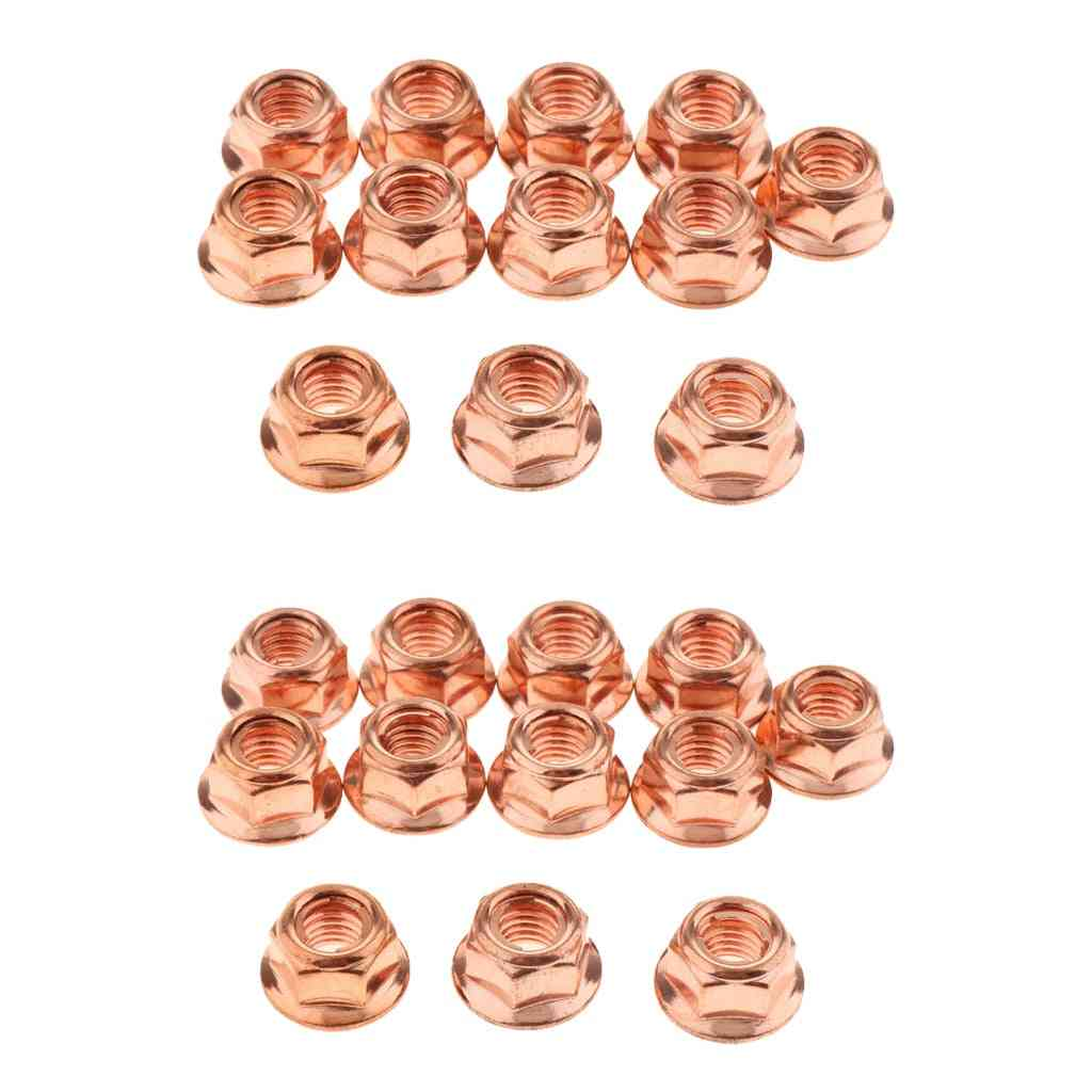 Exhaust Manifold Pipe Head Copper Nuts