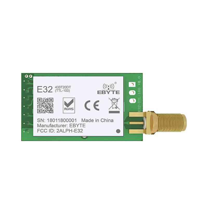 Long Range Uart Sx1278 433mhz 100mw Sma, Antenna Iot Uhf E32-433t20dt, Wireless Transceiver Module
