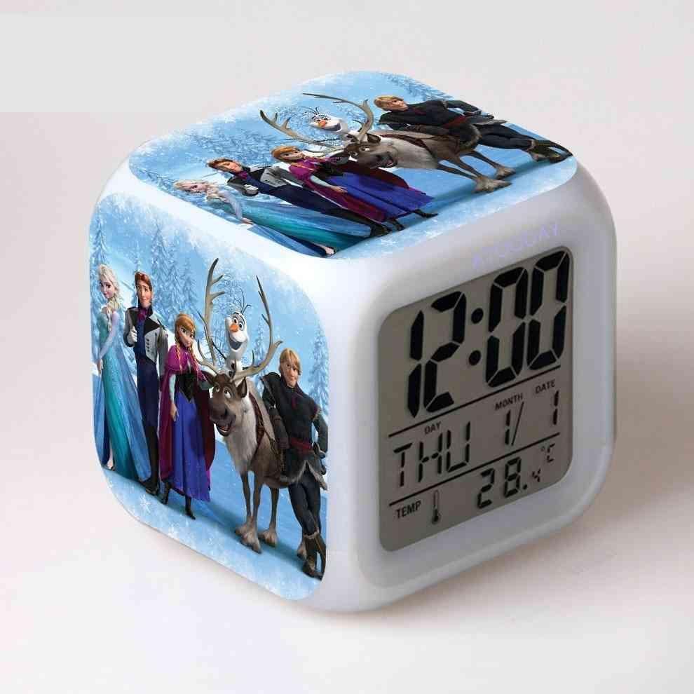 Alarm Clock, Led Light Change Lcd Display Watch