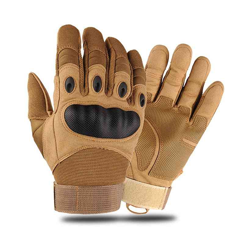 Touchscreen Leather, Hard Knuckle, Full-finger, Protective Gear Gloves