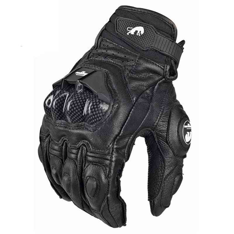 Mens & Women 4-season Driving Supertech Motorcycle Leather Gloves, Racing Glove