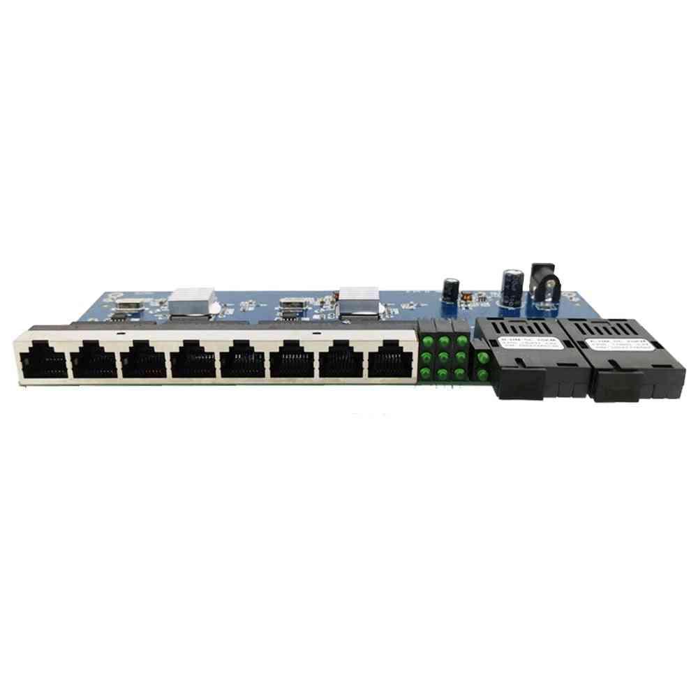 Ethernet Switch, Fiber Port Sc Connector, Pcba Board - Optical Converter Plate