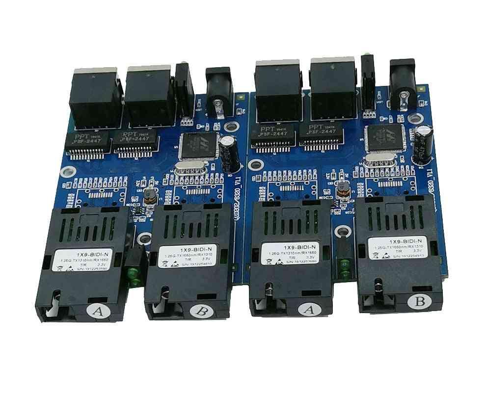 Ethernet Fiber Switch 2 Rj45 Utp 2 Sc