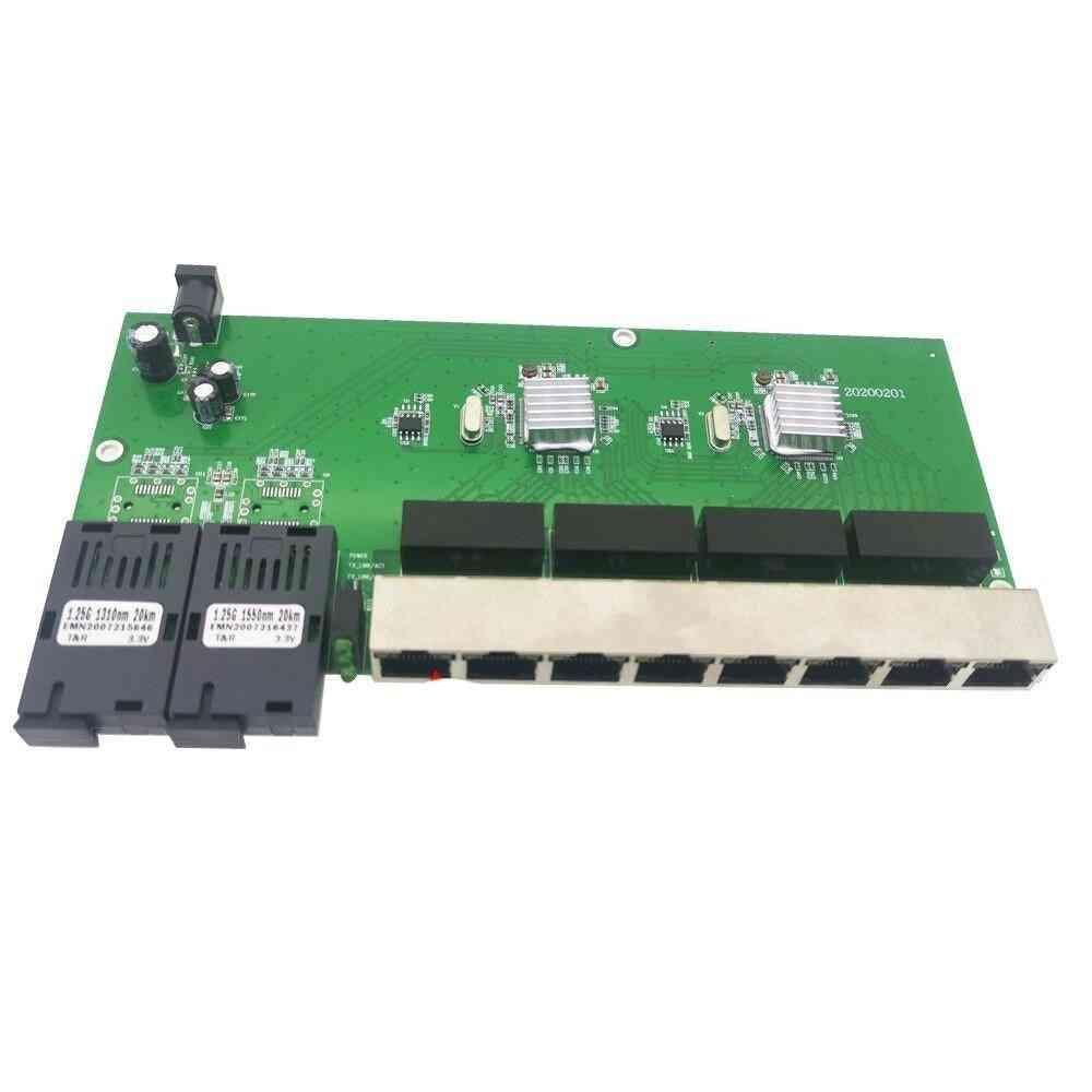 Optical Media Converter Single Mode Fiber Port Board