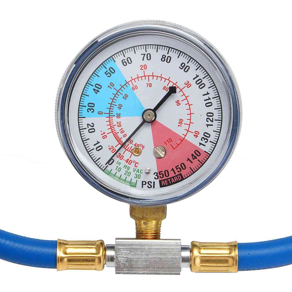 250psi Recharge Measuring Hose Gauge, Valve Refrigerant Pipe - Car Auto Air Conditioning