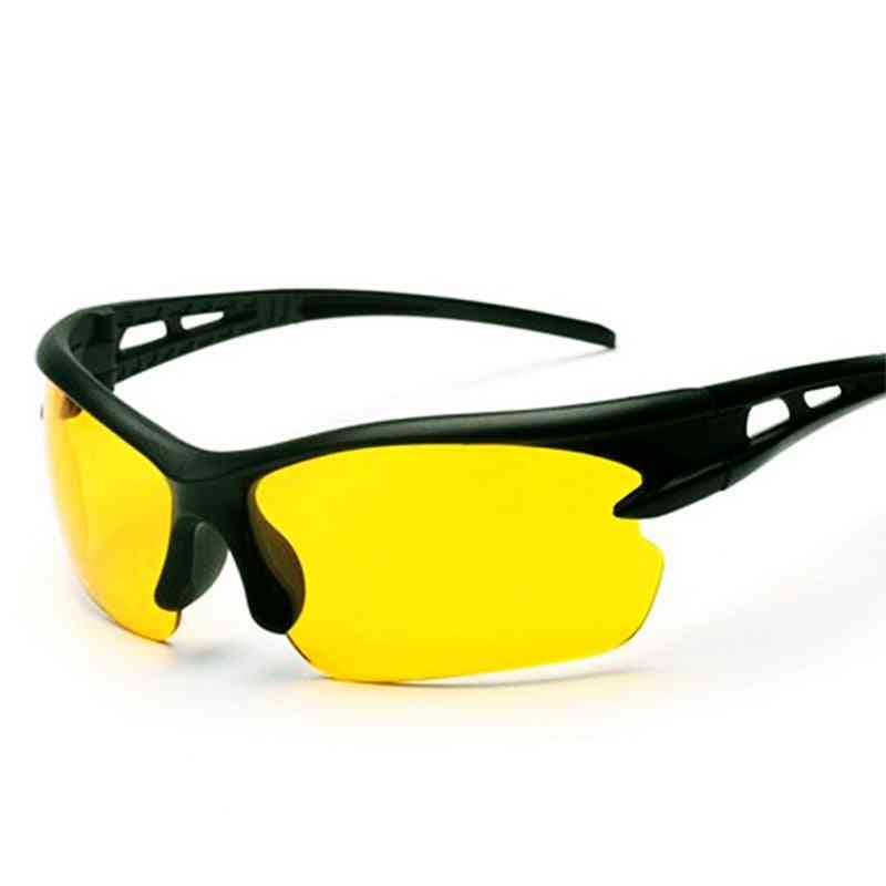 Driving Protective Gears Goggles, Yellow Lens Ultra Light Frame Sunglasses