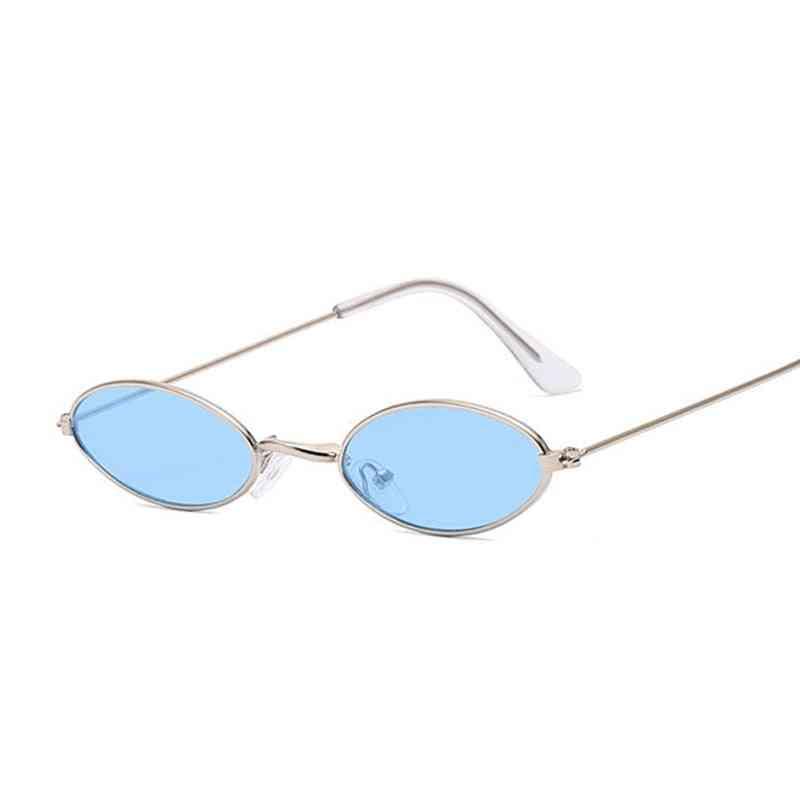 Small Frame, Designer Vintage Style Oval Shaped Sunglasses