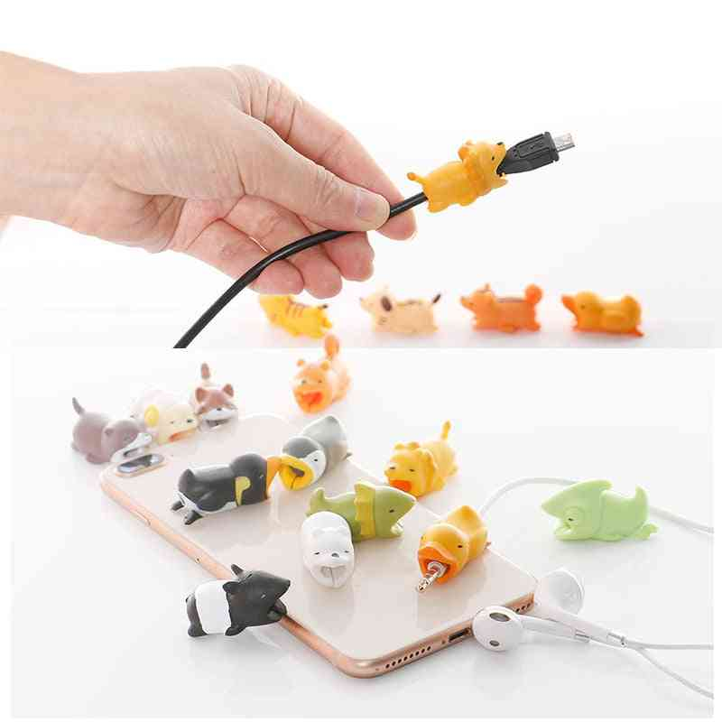 Animal Shape Cable Protector, Adorable Cute Data Line Protective Cover
