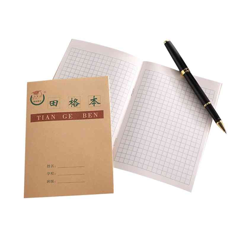 Children's Learning Workbook, Character Writing Mathematical Table Format Notebook