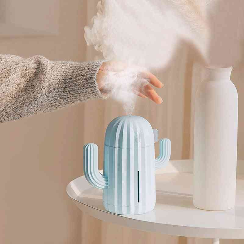 340ml Usb Cactus, Air Humidifier Aromatherapy, Essential Oil Diffuser