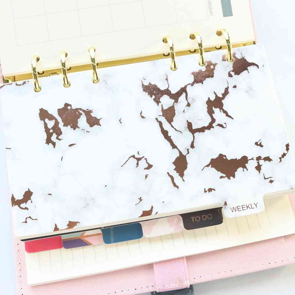 Cute 6 Holes Paper Index Divider And Label Stickers Set