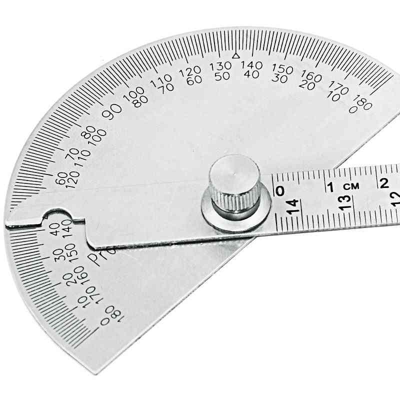 Stainless Steel Conveyor Round Head Angle Ruler Mathematical Measuring Tool