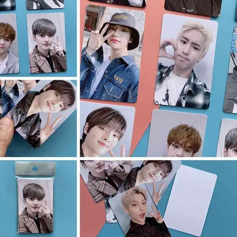 Kpop Stray Photo Card, Wood Album Lomo Cards