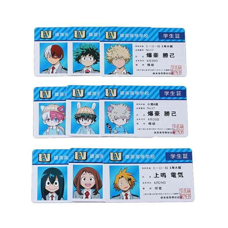 Anime Peripheral My Hero Academia Pvc Student Id Card, School Food Cards