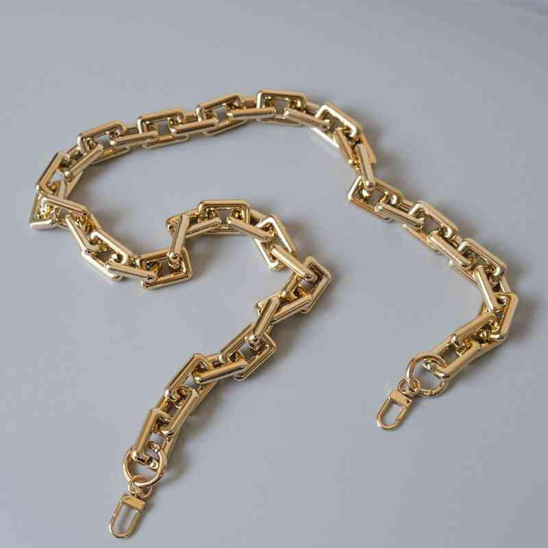 Gold Acrylic, Strap Shoulder, Handle Chain Bag Accessory