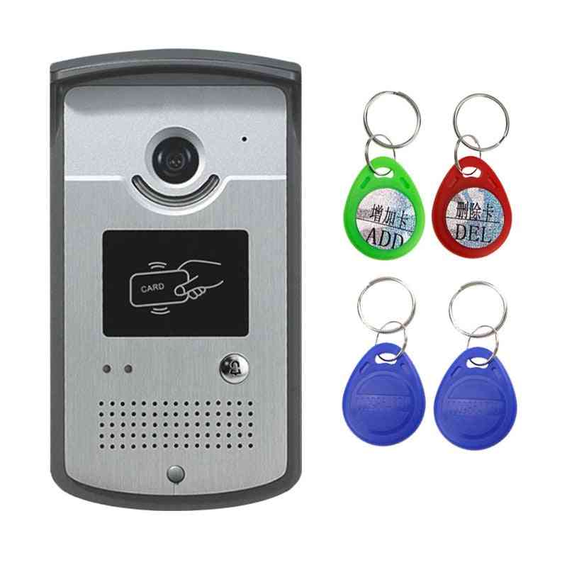 Wired Video Intercom System Doorbell Camera With Cmos Night Vision