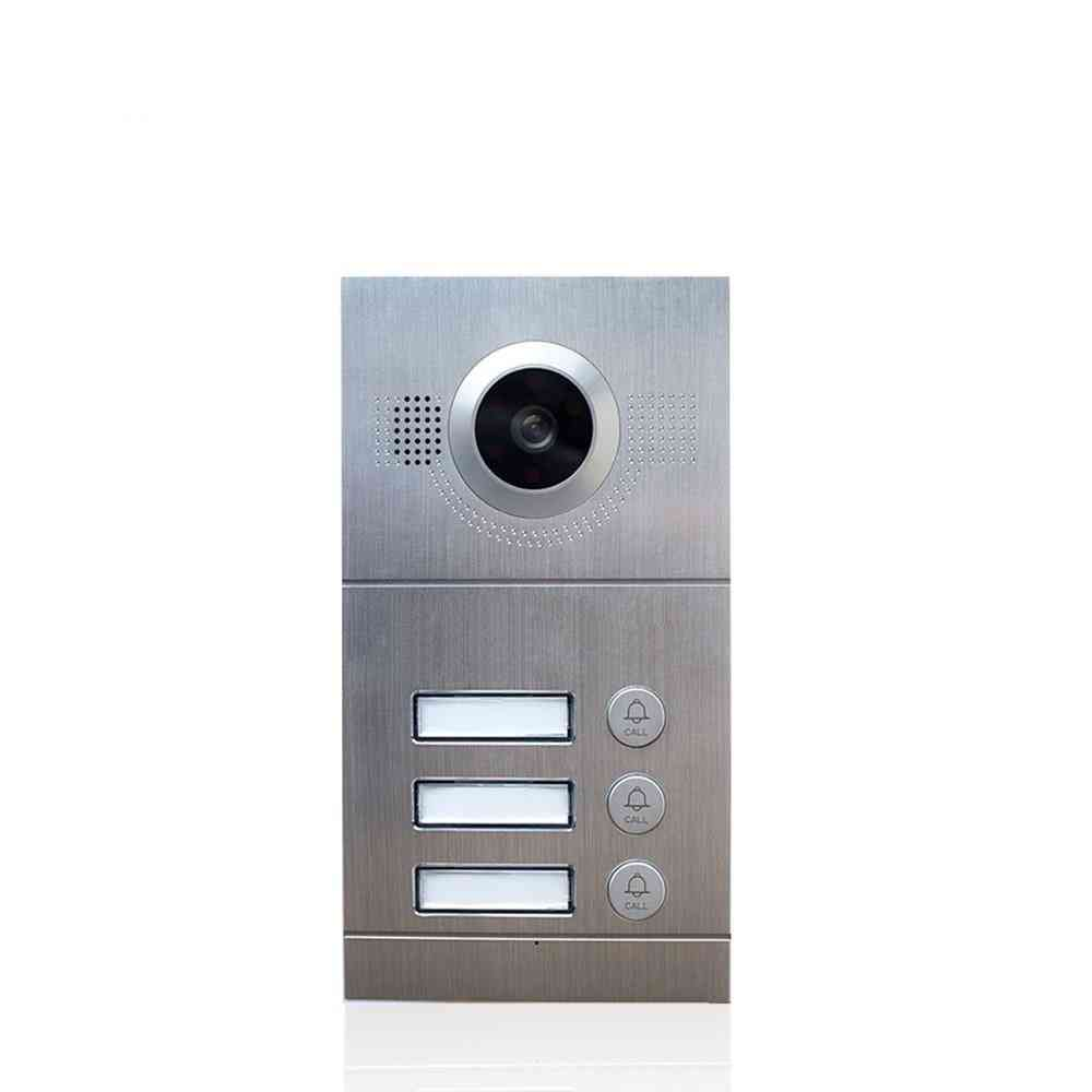 Waterproof 1.0mp Ip Doorbell With High Resolution Day/night Vision
