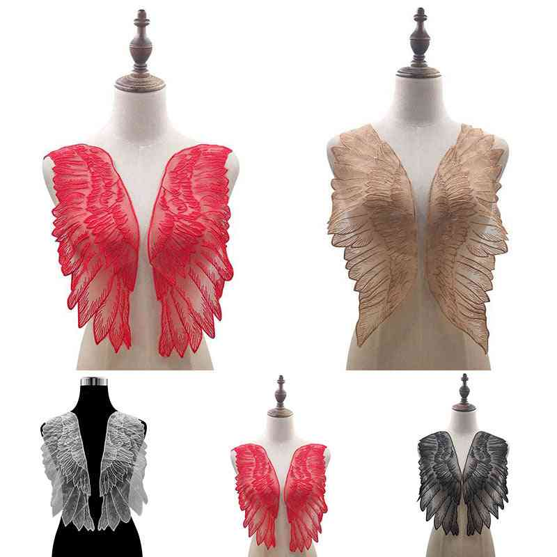 1 Pairs- Organza Wings Lace, Collar Neckline, Decorate Sewing