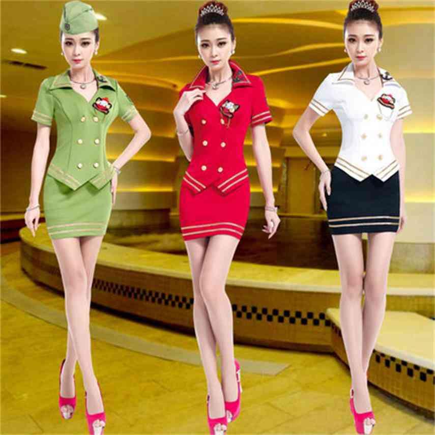 Sauna Foot Bath Technician Overalls Hotel Ktv Princess Stewardess Uniforms