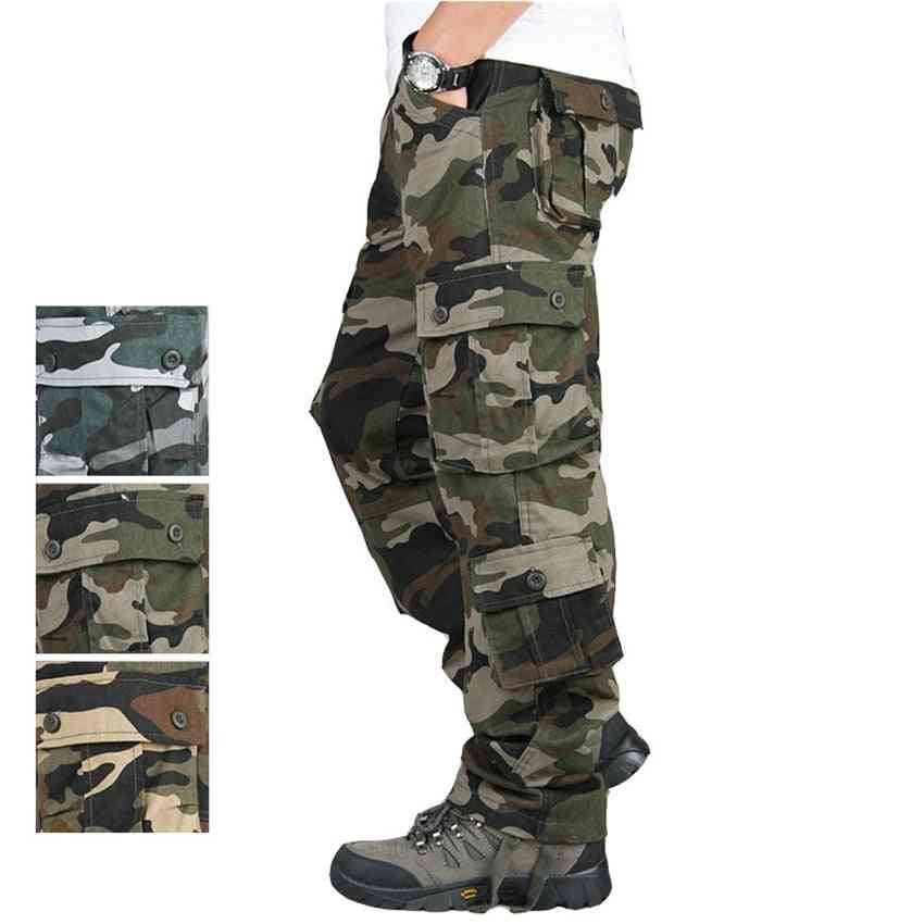 Men's Military Army Uniform, Camouflage Tactical Trousers For Outdoor Training Work