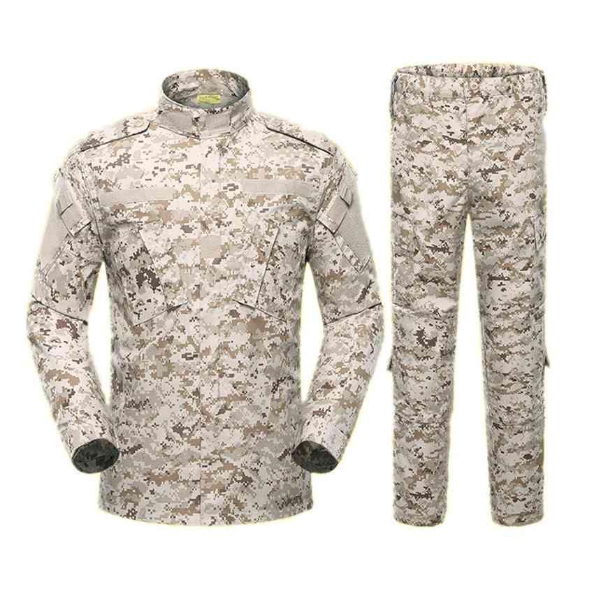 Military Uniform Tactical Suit, Acu Special Forces Combat Shirt, Pant Set's