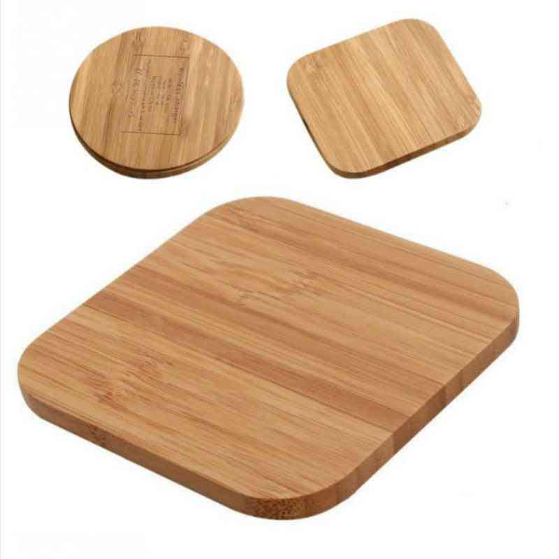 Portable Wireless Charger, Slim Wood Charging Pad For Samsung, Iphone