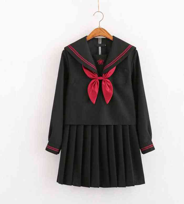 Japanese School Uniforms For - Long-length Sailor Tops Pleated Skirt Sets