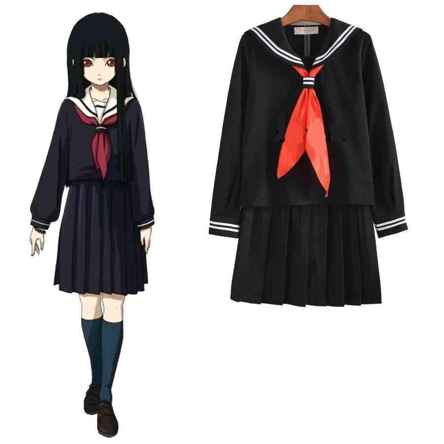 Summer School Uniforms Students Cloth Tops, Skirts & Tie Anime Sailor Suit Set