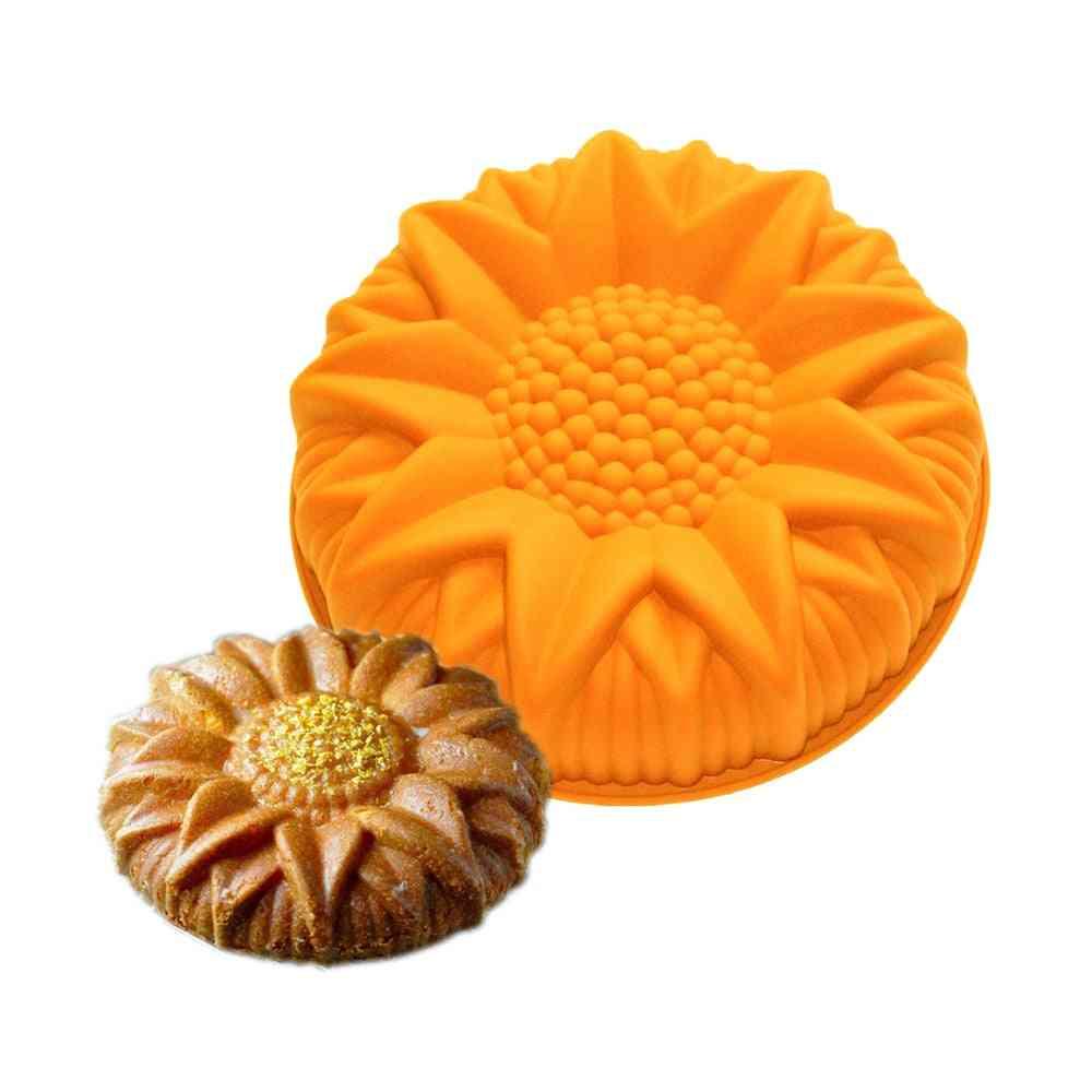 Silicone Non-stick Sunflower Design Baking Molds