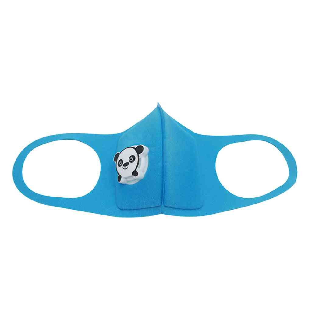 Children's Cartoon Print With Breathing Respirator Breathable, Dustproof, Washable, Reusable Mask