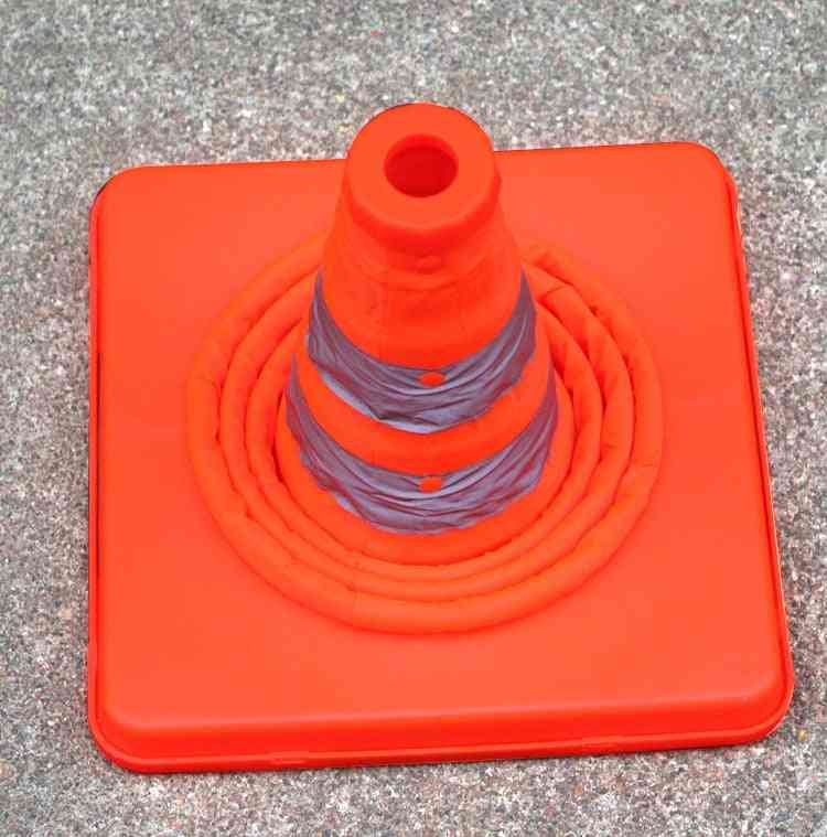 Collapsible Road Safety Cone, Traffic Pop Up Parking Multi Purpose 2 Reflective Stripe