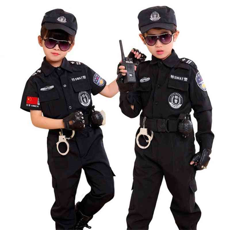 Traffic Special Police Costume For Kids