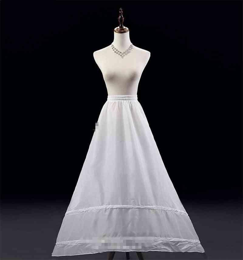 2 Hoops, A-line Petticoat, Crinoline Slip, Underskirt For Wedding Dress