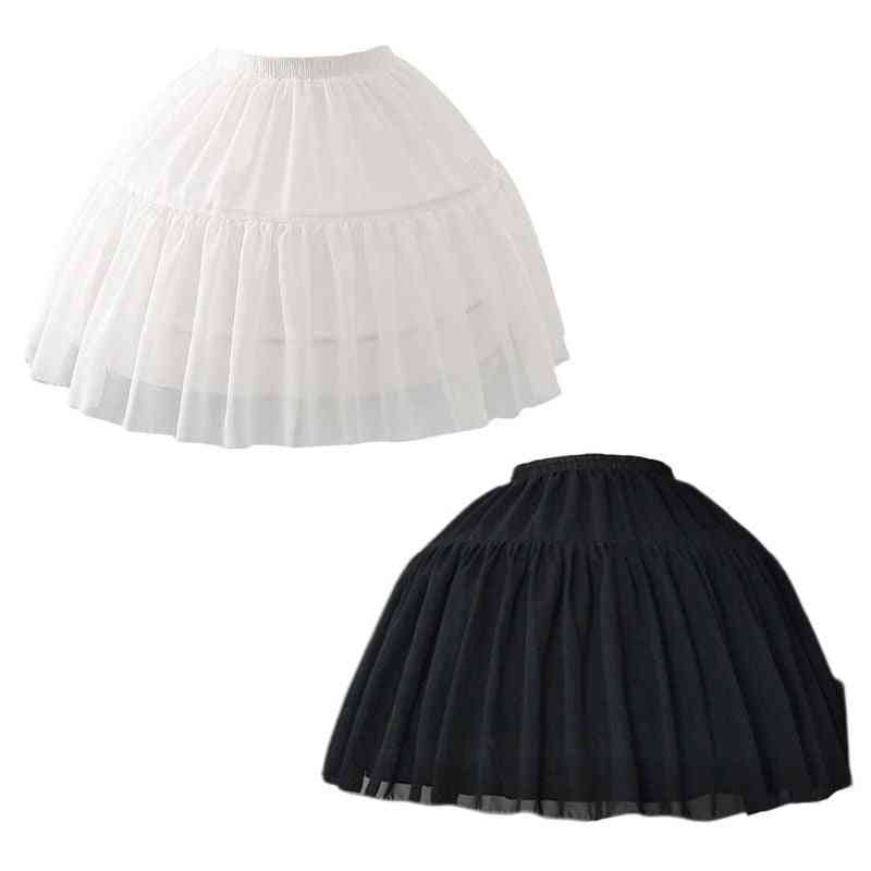 Cosplay Fish-bone, Short Slip, Liner Skirts, Adjustable Petticoat For
