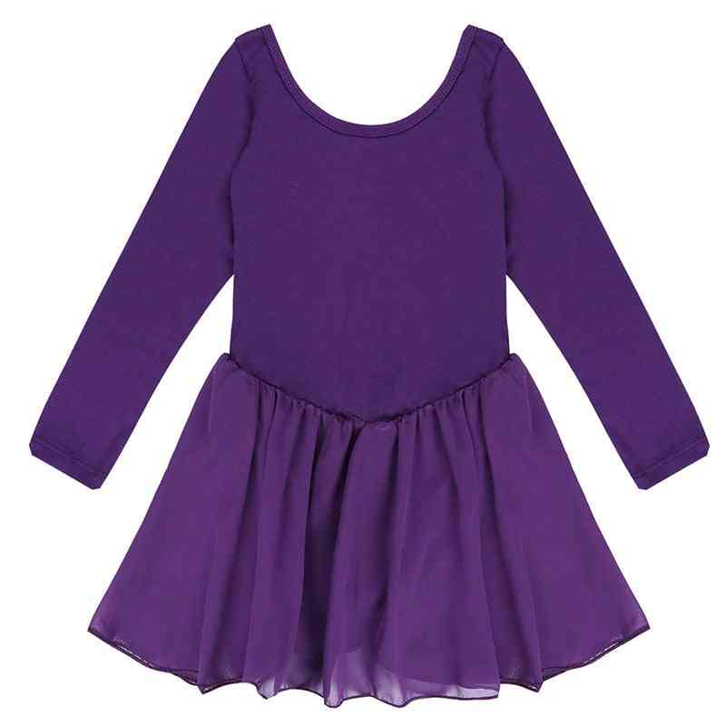 Ballerina Dancing Performance Long Sleeve Costumes Clothes