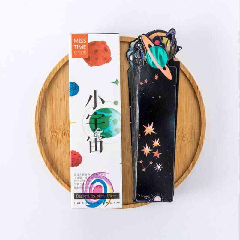 30pc/box Of Beautiful Small Universe Pattern-printed Bookmarks
