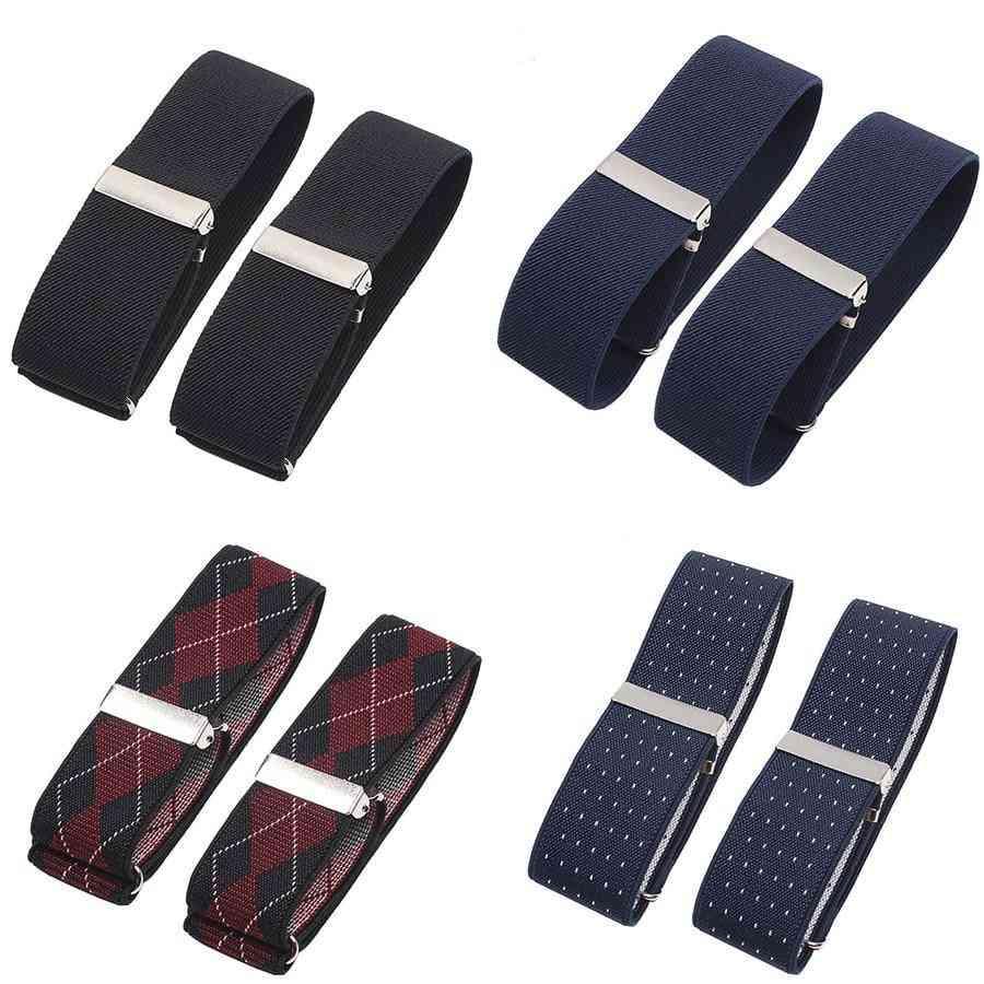 Shirt Groom Elastic Garter Metal Bracelet