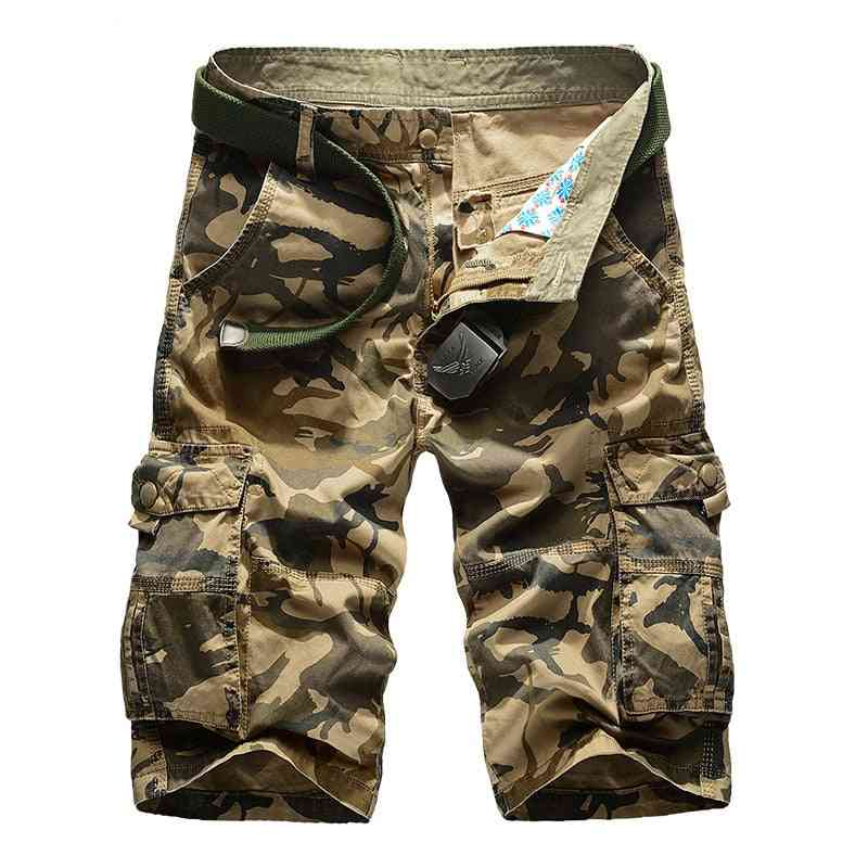 Army, Military Casual Beach Cotton, Camouflage Shorts's