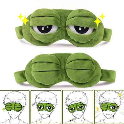 3d Sad Frog Closed/open Eye Padded Shade Cover, Sleeping Mask