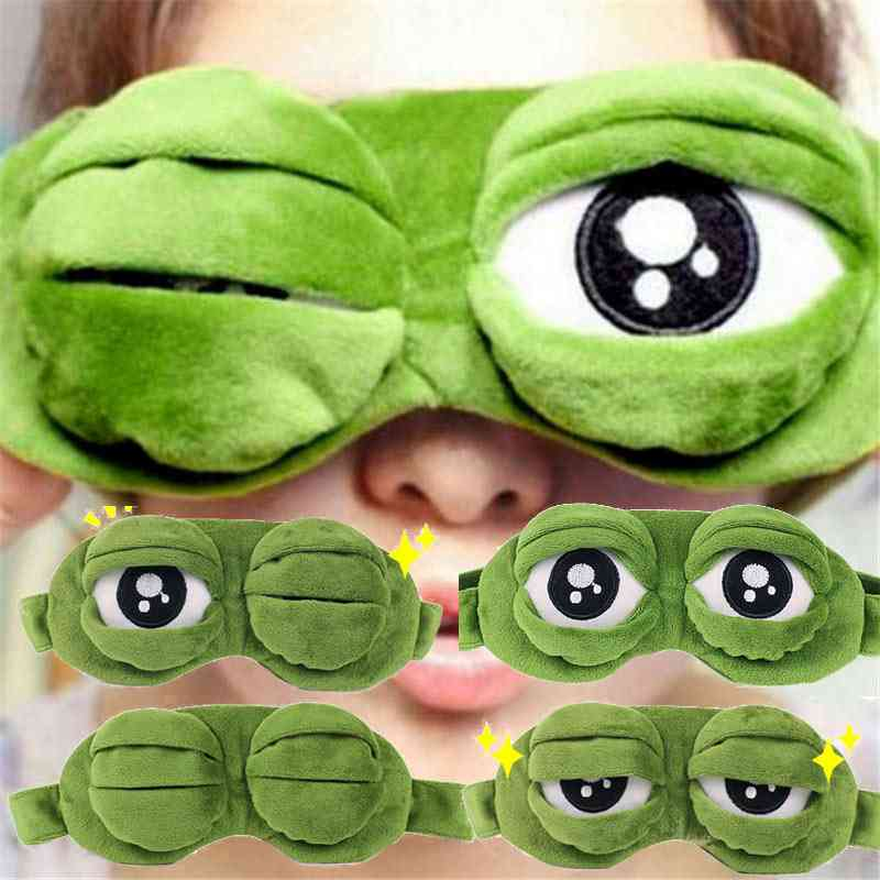 Funny Creative Pepe The Frog, Sad 3d Eye Mask Cover