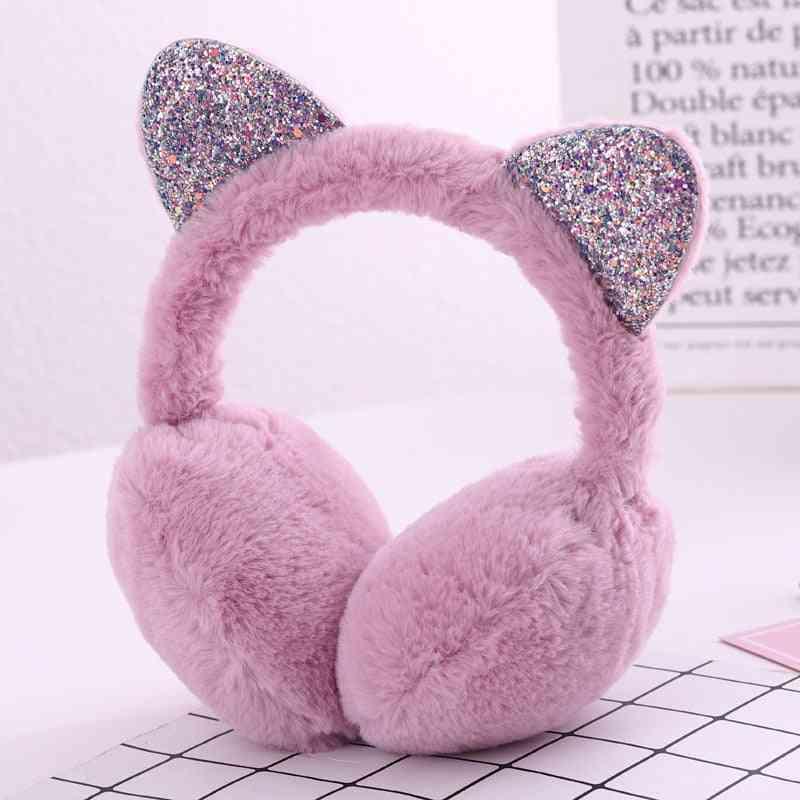 Winter Warm Headwear, Cartoon Ear Protection Fur Muffs Headband