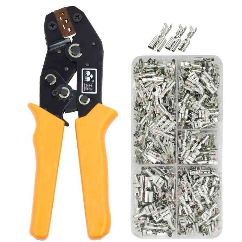Sn-48b Wire Crimping Plier, 20-13awg, Precision Jaw With Tab 2.8/ 4.8 Terminals Sets Tools