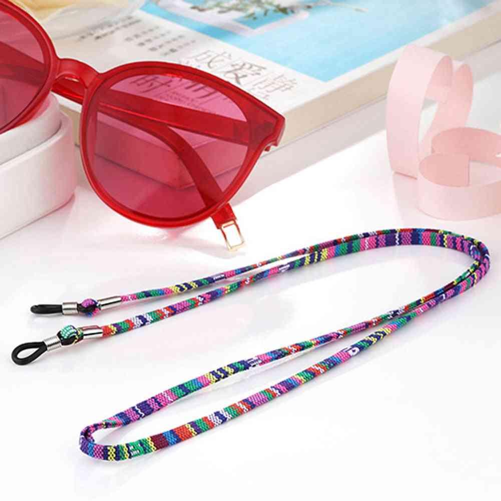 Eyeglass Sunglasses Cord Strap, Ethnic Style Cotton Eyewear Lanyard Glasses Neck String Rope