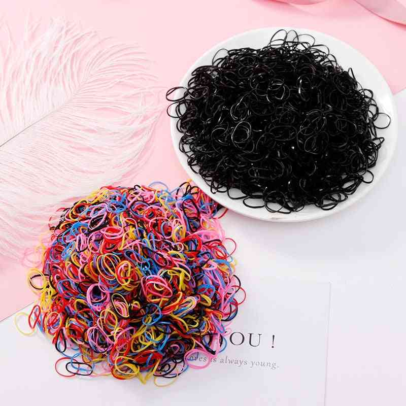 Tpu Rubber Bands Ponytail Holder Elastic Accessories Disposable Gum For Hair
